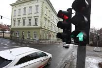 Semafory v ulici Na Valech
