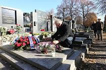 Uctění památky generála Františka Chábery na hřbitově v Litoměřicích