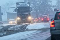 Sněhová nadílka na Litoměřicku, 20. prosince