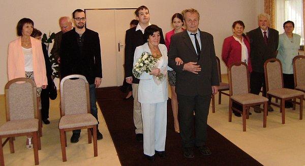 Smaragdová svatba manželů Němcových