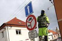 Výměna dopravních značek v Bohušovicích nad Ohří