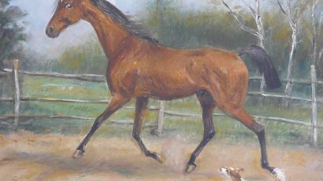František Štraybl byl hlavně malířem koní