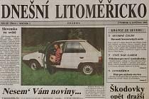 První vydání Dnešního Litoměřicka.