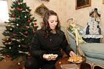 Příprava na vánoční prohlídky na ploskovickém zámku.