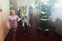 Cvičný požární poplach v ZŠ Polepy