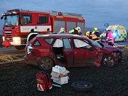 Dopravní nehoda u Chodovlic, 1. prosince 2017.