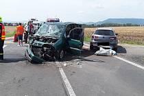 Dopravní nehoda tří aut u Horních Řepčic.