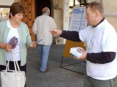Kampaň v Litoměřicích.