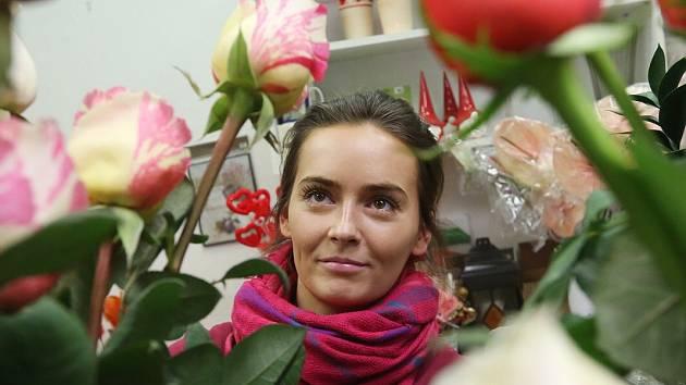 Pro květinářství je sv. Valentýn vždy vítaným svátkem, tržby jdou nahoru.