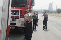 U POŽÁRU v Unipetrolu zasahovali i dobrovolní hasiči z Litoměřic.