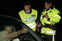 Noční policejní akce na Litoměřicku.