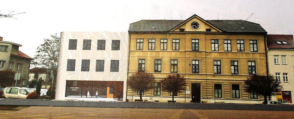 Projekt počítá s tím, že v přízemí přístavby budou umístěné šatny, v prvním patře vznikne zázemí pro školní družinu a ve druhém pak tři učebny, z nichž jedna bude počítačová.