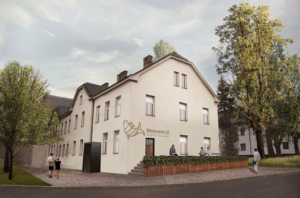 Vizualizace: Takto bude budova bývalé vrátnice vypadat po rekonstrukci.
