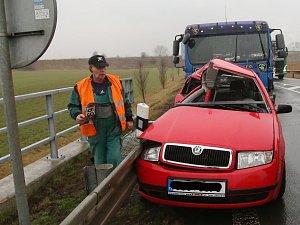 Dopravní nehoda u Prosmyk