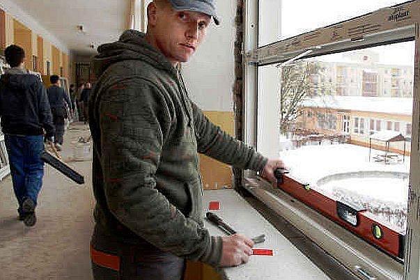 Výměna oken v ZŠ Školní Štětí.