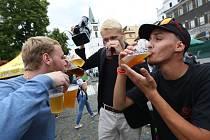 Stovky vyznavačů dobrého piva navštívily v sobotu Pivní slavnosti v Litoměřicích