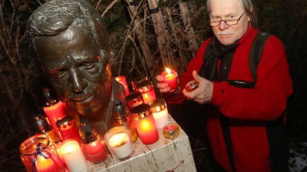 Vzpomínka na prezidenta Václava Havla v Litoměřicích.