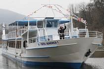Porta Bohemica 1. - nová loď, která bude přepravovat lidi na Labi na Litoměřicku.