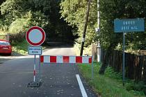 Omezení dopravy na silnici přes kopečky je již minulostí.