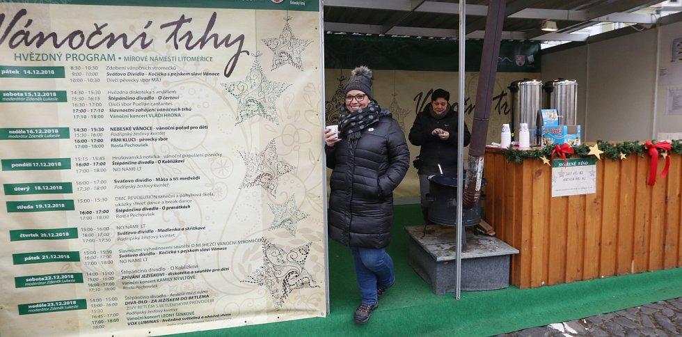 Vánoční trhy na litoměřickém Mírovém náměstí