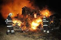 Další požár stohu - tentokrát v Miřejovicích.