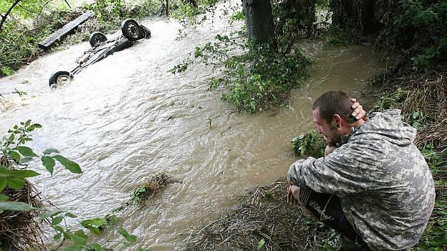 Velká voda v Zahořanech.