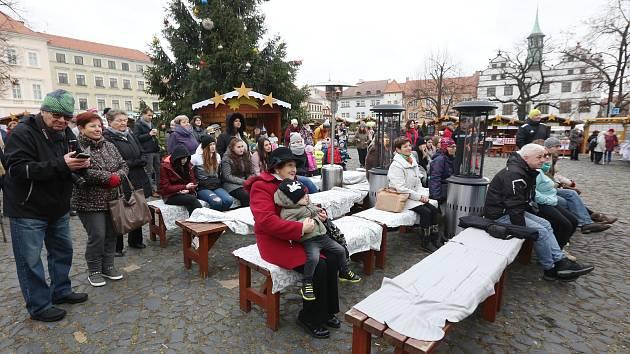 Vánoční trhy na Litoměřickém Mírovém náměstí v roce 2018