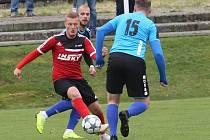 Fotbalový zápas mezi Štětím a Brnou, krajský přebor 2018/2019