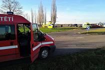 Dobrovolní hasiči zasahovali neplánovaně u nehody