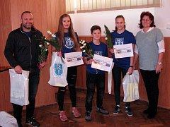 Lenka Masopustová, Sabina Zelinková a Jan Krpeš s trenérem Vítem Masopustem