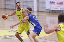 Basketbalový zápas mezi Litoměřicemi a Jindřichovým Hradcem, 1. liga 2019/2020