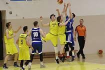 Basketbalový zápas mezi Litoměřicemi a Prostějovem, nadstavba A1 1. ligy 2018/2019