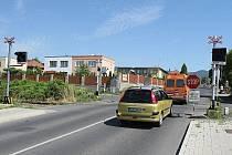 Situace na přejezdu u nemocnice v Litoměřicích.