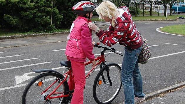 Mladí cyklisté předvedli v Litoměřicích své dovednosti.