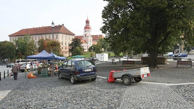 Náměstí v Roudnici nad Labem.