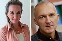 Opoziční zastupitelka Andrea Elísek a starosta Úštěku Jan Mazíni