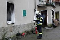 Požár rodinného domu v Libotenicích