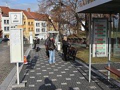 Autobusové nádraží v Roudnici nad Labem. Ilustrační foto