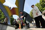 V Litoměřicích se uskutečnil pietní akt k výročí osvobození u pomníku padlých ruských vojáků a poté u krematoria Richard, kde byl koncentrační tábor.