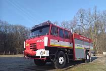 Nově zrepasovaná Tatra 815, kterou obdržel Sbor dobrovolných hasičů ve Štětí