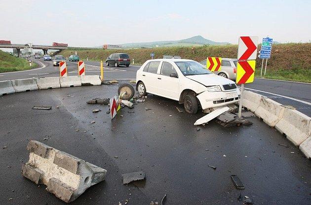 Nehoda u Lovosic - 30. 4. 2009 dopoledne.