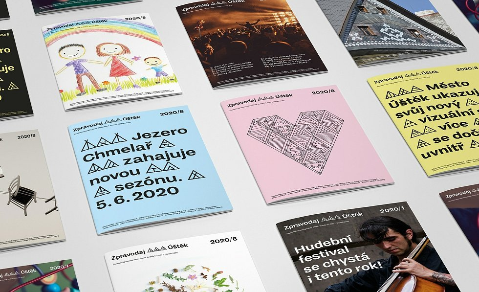 Vítězná vizuální identita Úštěku z pera grafického studia Svéráz