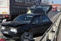Nehoda na Tyršově mostě