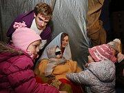 Živý betlém na Dómském pahorku v Litoměřicích