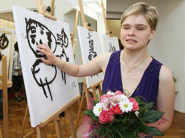 Vernisáž výstavy nevidomé Ivy Zuchové.