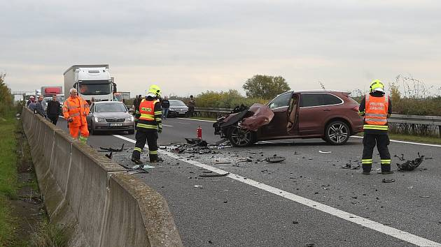 Nehoda na dálnici D8