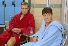 Natáčení Básníků v litoměřickém krytém bazénu