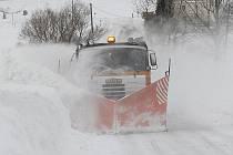 Sněhová kalamita u Mukařova.