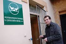 Předseda sdružení Aleš Slavíček poděkoval vedení města Litoměřice za pomoc při hledání vhodného objektu, který by nabídl odpovídající zázemí pro provoz první Potravinové banky v Ústeckém kraji.
