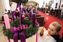 Zapálení první svíčky na adventním věnci v Litoměřicích